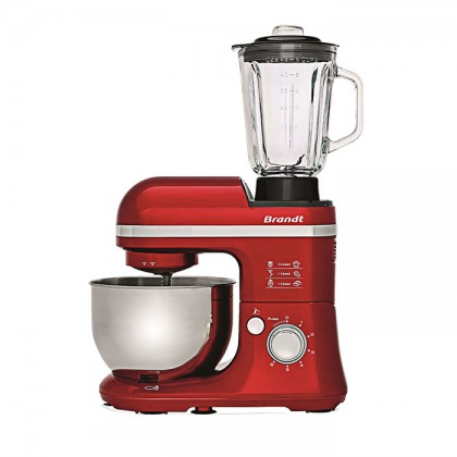 Brandt KM650BR Stand Mixer - RED Multifunctional Pastry Robot