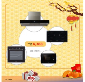 Lebensstil LKCHi9120 90cm Chimney Hood + LKIH-P7220PH Induction Hob + LKBO6008 Built-In Oven + LKMW2308 Microwave (CNY - 4)