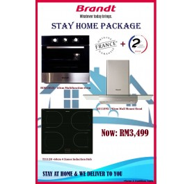 Brandt  Package AD1189X Cooker Hood + BOE5302X Oven + TI112B Induction Hob