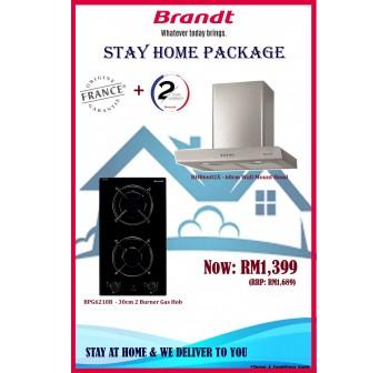 Brandt  Package BHB6602X Cooker Hood + BPG6210B Modular Gas Hob