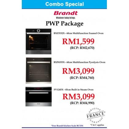 Brandt  Package BHB6912BM Cooker Hood + BPI6230BL Induction Hob