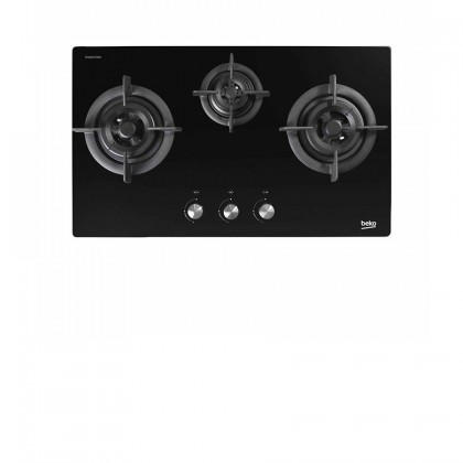 Beko HCB93042X Cooker Hood + HISW73225SOB 3-Burner Gas Hob