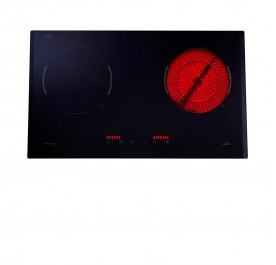 Lebensstil LKHH-7322W 2-Cooking Zone Hybrid Hob (Vitroceramic + Induction)