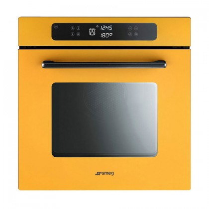 Smeg FP610SG Marc Newson 68L Built-In Pyrolitic Oven (Yellow)