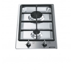Smeg PGF32G Stainless Steel, Modular 2-Burner Gas Hob