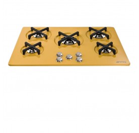 Smeg P755SG Marc Newson 5-Burner Gas Hob (Yellow Glass)
