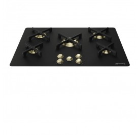 Smeg P755AN Marc Newson 5-Burner Gas Hob (Black Glass)