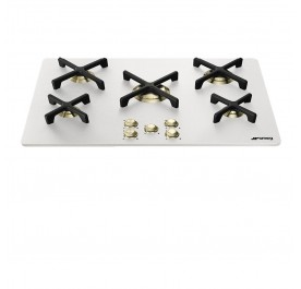 Smeg P755AB Marc Newson 5-Burner Gas Hob (White Glass)
