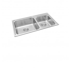 Haustern HT-MIX-620 Top Mount 2-Bowl Stainless Steel Sink