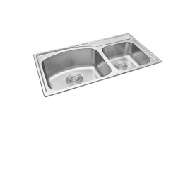 Haustern HT-MIX-623 Top Mount 2-Bowl Stainless Steel Sink