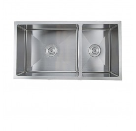 Haustern HT-UMT-121-H Undermount 2-Bowl Stainless Steel Sink