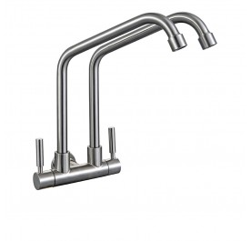 HCE SFK-2013-C Double Spout Kitchen Cold Tap