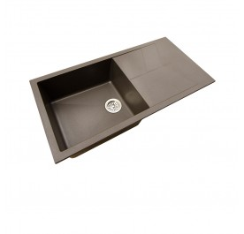 HCE GKS-10050-MBR Single Bowl with Drainer Granite Sink