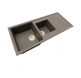 HCE GKS-11650-MBR  Double Bowl with Driner Granite Sink