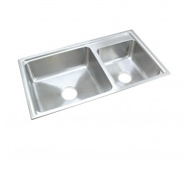 HCE KS-8648B Top Mount Double Bowl Stainless Steel Sink