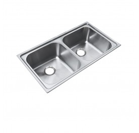 HCE KS-8648 Top Mount Double Bowl Stainless Steel Sink