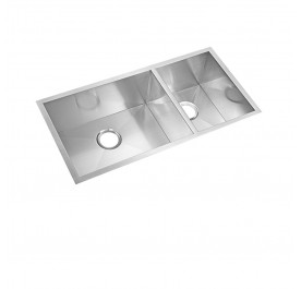 HCE KS-9045B Undermount Double Bowl Stainless Steel Sink come with Colander