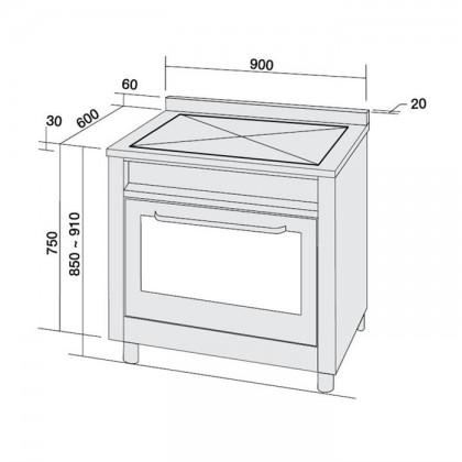 Ariston CP 059 MD (X) AUS S 90cm Semi-Professional Range Cooker