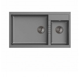Haustern HT-PRISMA-623G Top Mount 2-Bowl Granite Sink