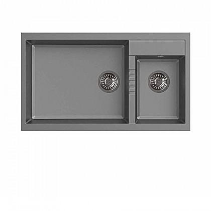 Haustern HT-PRISMA-623G Top Mount 2-Bowl Granite Sink
