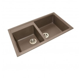 HCE GKS-8650-MBR Double Bowl Granite Sink