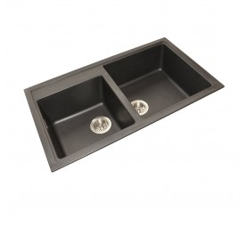 HCE GKS-8650-MBL Double Bowl Granite Sink