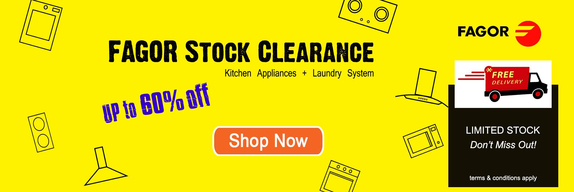 Fagor Mega Stock Clearance