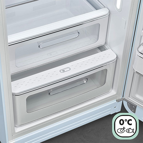 Smeg 50's retro-style refrigerator life plus drawer